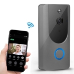 M2 720P Smart WIFI Video Visual Doorbell,Support Mobile Phone Remote Monitoring & Night Vision (Grey)