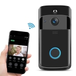 M4 720P Smart WIFI Ultra Low Power Video PIR Visual Doorbell with 3 Battery Slots,Support Mobile Phone Remote Monitoring & Night Vision & 166 Degree Wide-angle Camera Lens (Black)