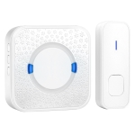P6-B 110dB Wireless IP55 Waterproof Low Power Consumption WiFi Doorbell Receiver, 53 Music Options, Receiver Distance: 300m(White)