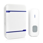 P7 110dB Wireless IP55 Waterproof Low Power Consumption WiFi Doorbell Receiver with Night Light , 53 Music Options, Receiver Distance: 300m (White)