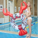 Lobster Shape Inflatable PVC Swimming Ring Floating bed,Size: 160x95x90cm
