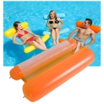 Foldable Double-purpose Backrest Float Hammock with Net, Size: 130x73cm (Orange)