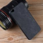 Shockproof Sheep Skin PC + PU + TPU Case for Xiaomi Redmi Go (Black)