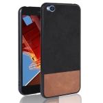 Shockproof Color Matching Denim PC + PU + TPU Case for Xiaomi Redmi Go (Black)