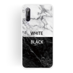 Black and White Text Matte Semi-transparent TPU Marble Mobile Phone Case for Xiaomi Mi 9 SE