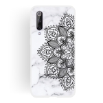 Half Flower Frosted Matte Semi-transparent TPU Marble Phone Case for Xiaomi Mi 9 SE