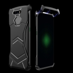 R-JUST Magnet Adsorption Metal Polished Texture Phone Case for Xiaomi Black Shark (Black)
