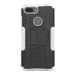 Shockproof  PC + TPU Tire Pattern Case for Xiaomi Mi 8 Lite, with Holder(White)