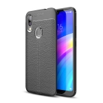 Litchi Texture TPU Shockproof Case for Xiaomi Redmi 7 (Black)