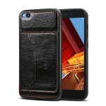 Dibase TPU + PC + PU Crazy Horse Texture Protective Case for Xiaomi Redmi Go, with Holder & Card Slots (Black)