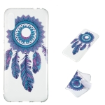 Blue Wind Chime Pattern Highly Transparent TPU Protective Case for Xiaomi Redmi Note 7