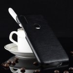 Shockproof Litchi Texture PC + PU Case for Xiaomi Redmi 7 (Black)