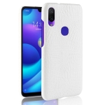 Shockproof Crocodile Texture PC + PU Case for Xiaomi Redmi 7 (White)