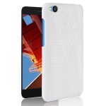 Shockproof Crocodile Texture PC + PU Case for Xiaomi Redmi Go (White)