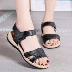 Simple Fashion Breathable Casual Sandals for Woman (Color:Black Size:35)