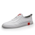 Lightweight Breathable Solid Color Casual Shoes for Men (Color:White Size:43)
