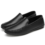 Soft and Comfortable Solid Color Casual Shoes for Men (Color:Black Size:46)