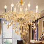 Living Room Dining Room Bedroom Chandelier LED Candle Crystal Chandelier without Bulbs, 6 Heads