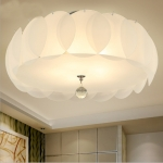 Simple Modern Warm Romantic Glass Round LED Ceiling Light, Diameter: 50cm
