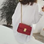 PU Leather Single Shoulder Bag Ladies Handbag Messenger Bag (Red)