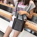 2 in 1 PU Leather Single Shoulder Bag Ladies Handbag Messenger Bag (Black)