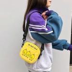 Ducks Pattern Cavans Single Shoulder Bag Ladies Handbag Messenger Bag (Yellow)