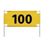 PGM Golf Code Number Card Distance Card Iron Frame + Yard Cloth(150 Yards Cloth)
