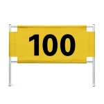 PGM Golf Code Number Card Distance Card Iron Frame + Yard Cloth(200 Yards Cloth)