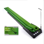PGM 2.5m Golf Indoor Swing Grip Putting Trainer Practice Pace with Automatic Return Fairways