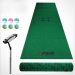 PGM Golf Indoor Putting Green Putter Practice Green Mat Blanket Set, Playing Cards Type, 1×3.5m