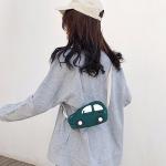 Car-shape Corduroy Single Shoulder Bag Ladies Handbag Messenger Bag (Green)