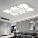108W Living Room Simple Modern LED Ceiling Lamp Crystal Light, 120 x 80cm (White Light)