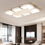 108W Living Room Simple Modern LED Ceiling Lamp Crystal Light, 120 x 80cm (Warm White)