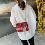 Glitter Tassel PU Leather Chain Single Shoulder Bag Ladies Handbag Messenger Bag (Red)
