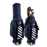 PGM Golf Multi-function Retractable Nylon Ball Bag with Pulley (Dark Blue)
