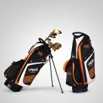 PGM Golf Nylon Lightweight Bag with Holder (Black Orange)