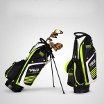 PGM Golf Nylon Lightweight Bag with Holder (Black Green)