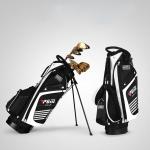 PGM Golf Nylon Lightweight Bag with Holder (Black White)