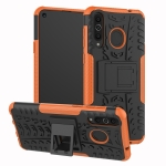 Tire Texture TPU+PC Shockproof Case for Galaxy A8s, with Holder (Orange)
