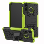 Tire Texture TPU+PC Shockproof Case for Galaxy A8s, with Holder (Green)