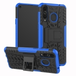 Tire Texture TPU+PC Shockproof Case for Galaxy A8s, with Holder (Blue)