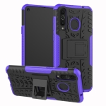 Tire Texture TPU+PC Shockproof Case for Galaxy A8s, with Holder (Purple)