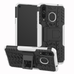 Tire Texture TPU+PC Shockproof Case for Galaxy A8s, with Holder (White)