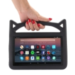 Shockproof EVA Bumper Case for Amazon Kindle Fire HD 7 inch (2015/2017), with Handle & Holder (Black)
