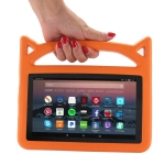 Shockproof EVA Bumper Case for Amazon Kindle Fire HD 7 inch (2015/2017), with Handle & Holder (Orange)