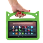 Shockproof EVA Bumper Case for Amazon Kindle Fire HD 7 inch (2015/2017), with Handle & Holder (Green)