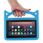 Shockproof EVA Bumper Case for Amazon Kindle Fire HD 7 inch (2015/2017), with Handle & Holder (Blue)
