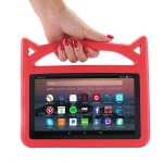 Shockproof EVA Bumper Case for Amazon Kindle Fire HD 7 inch (2015/2017), with Handle & Holder (Red)