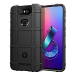 Shockproof Protector Cover Full Coverage Silicone Case for Asus Zenfone 6 (Black)