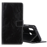 Retro Crazy Horse Texture Horizontal Flip Leather Case for Asus Zenfone Max Plus (M2) ZB634KL / Zenfone Max Shot ZB634KL, with Holder & Card Slots & Photo Frame (Black)